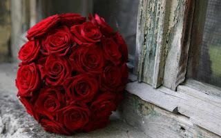 bouquet de flores rojas