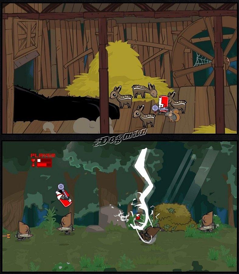 Castle crashers magic characters