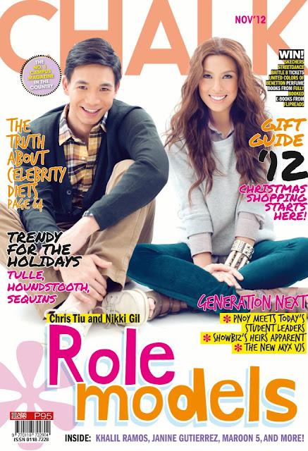 Nikki Gil and Chris Tiu Cover Chalk Magazine November 2012 Issue