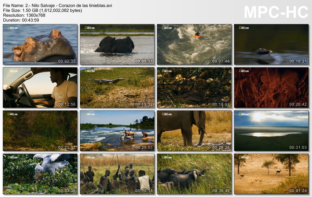 4GB|NATGEO HD|Nilo Salvaje|3-3|HD 720p|Mega|