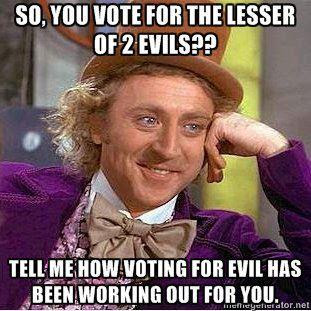 Obama and Romney the lesser of 2 evils 