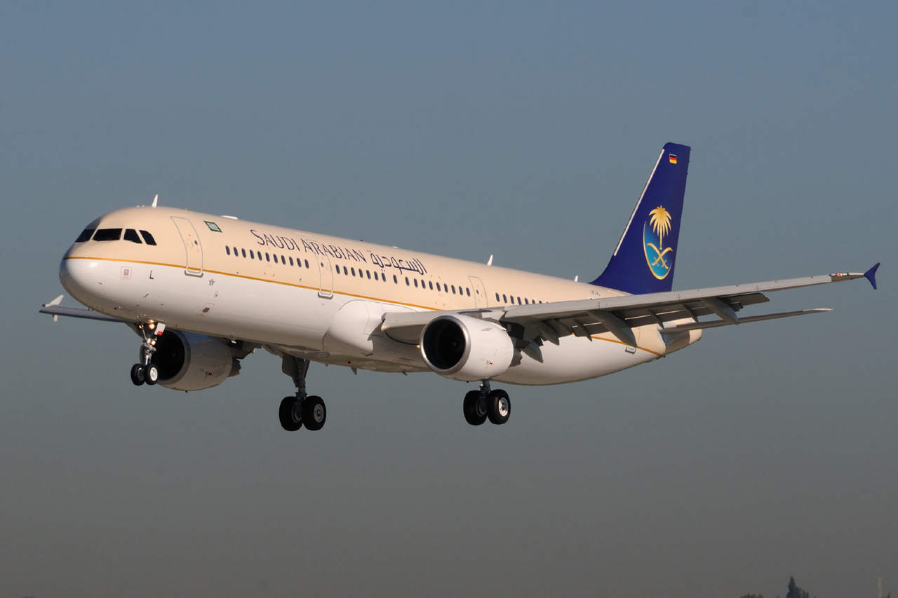 Download this Saudi Arabian Airlines Avzv Asl Msn picture