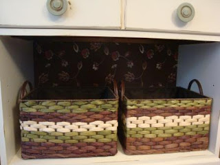 fabric, covered, foam core, shabby, baskets