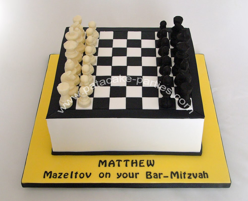 Pat A Cake Parties Chess Board Cake