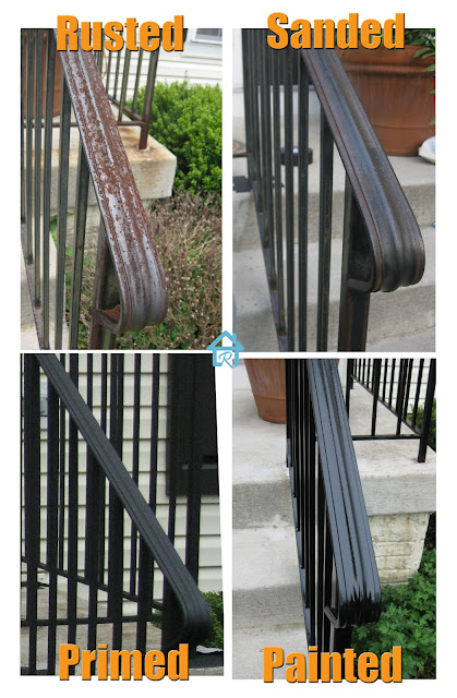 how to effectively remove rust from metal railing