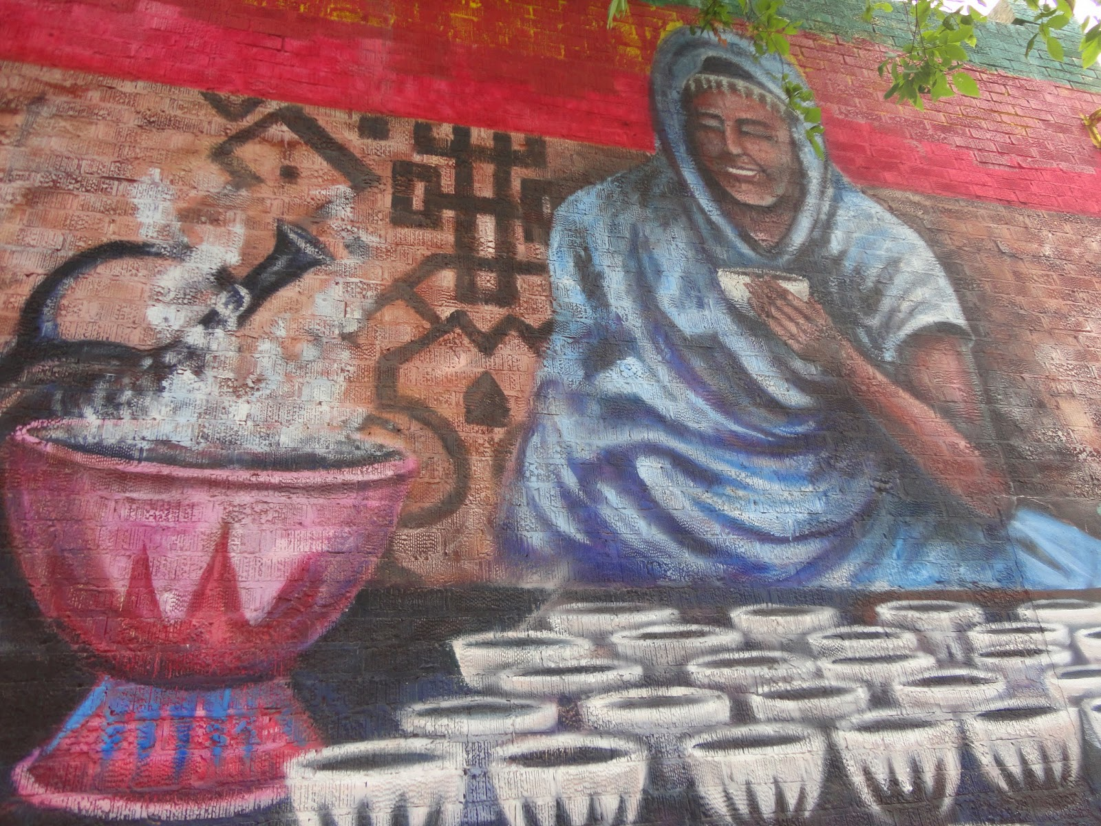 Ethiopian Coffee Ceremony by Tom Andrich (2003) - Shawarma Time Restaurant and Deli at 616 Ellice Avenue