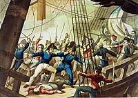In 1807 when news of the naval engagement off the coast of Norfolk, Virginia breaks the outraged American public demands action from President Aaron Burr. Seizing the initiative he seeks approval for a declaration of war from the US Congress, but justified by the narrowly defined war objective of securing an advantageous interpretation of the US neutral rights.