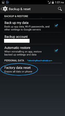 Cara Melakukan Factory Reset Handphone Android