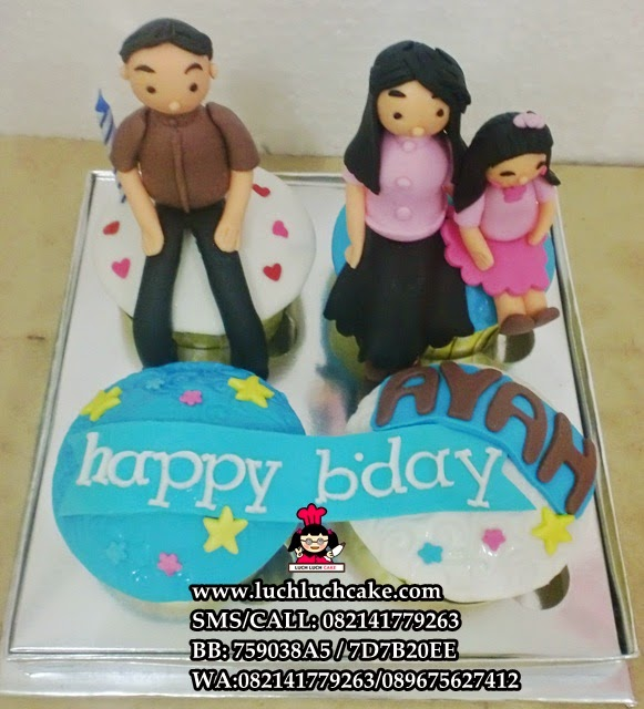 Cupcake Keluarga Daerah Surabaya - Sidoarjo (Repeat order)