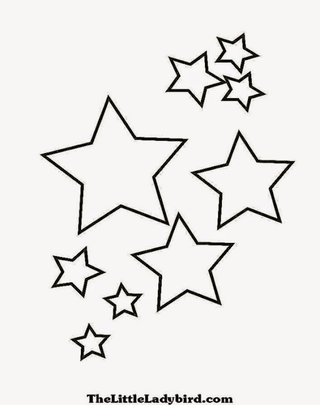 Stars1 Coloring Page Of Stars