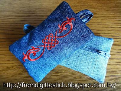 вышивка орнамента на ключнице
