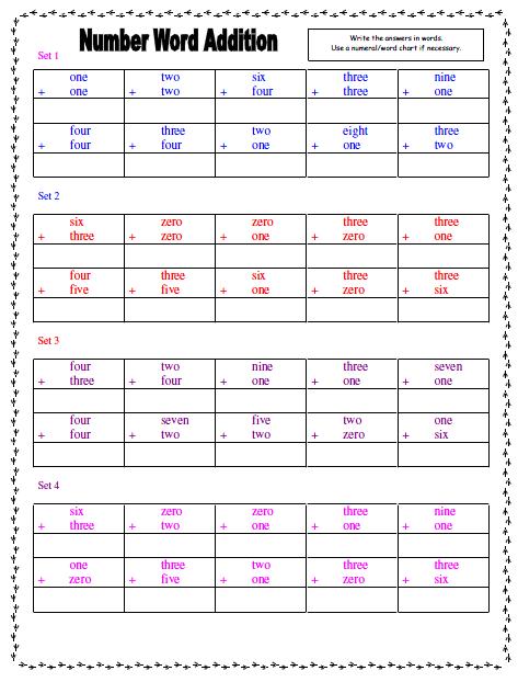 Free Worksheets number words spelling worksheets : Number Words ~ TJ Homeschooling