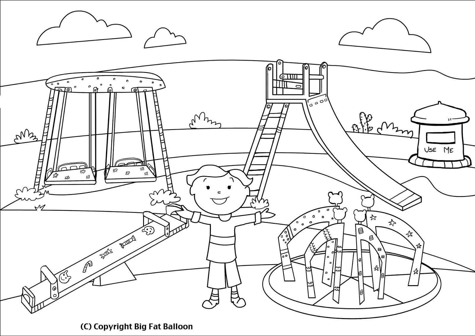 Kids Park Drawing Park Drawing
