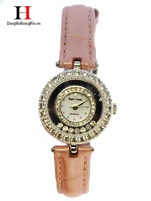 Đồng hồ đeo tay nữ dây da Royal Crown