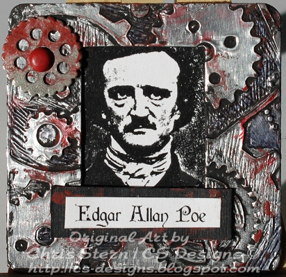 Edgar Allan Poe Altered Photo Slide Mount