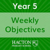 Weekly Objectives for Year 5