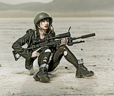 women sniper rifle military wallpapers