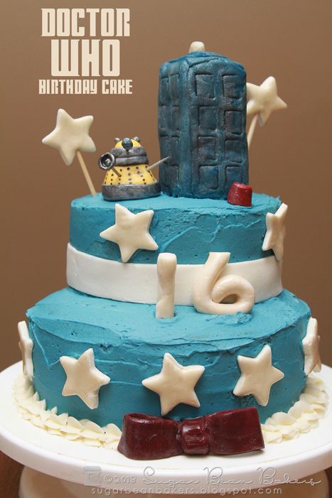 Sugar Bean Bakers Doctor Who Birthday Cake
