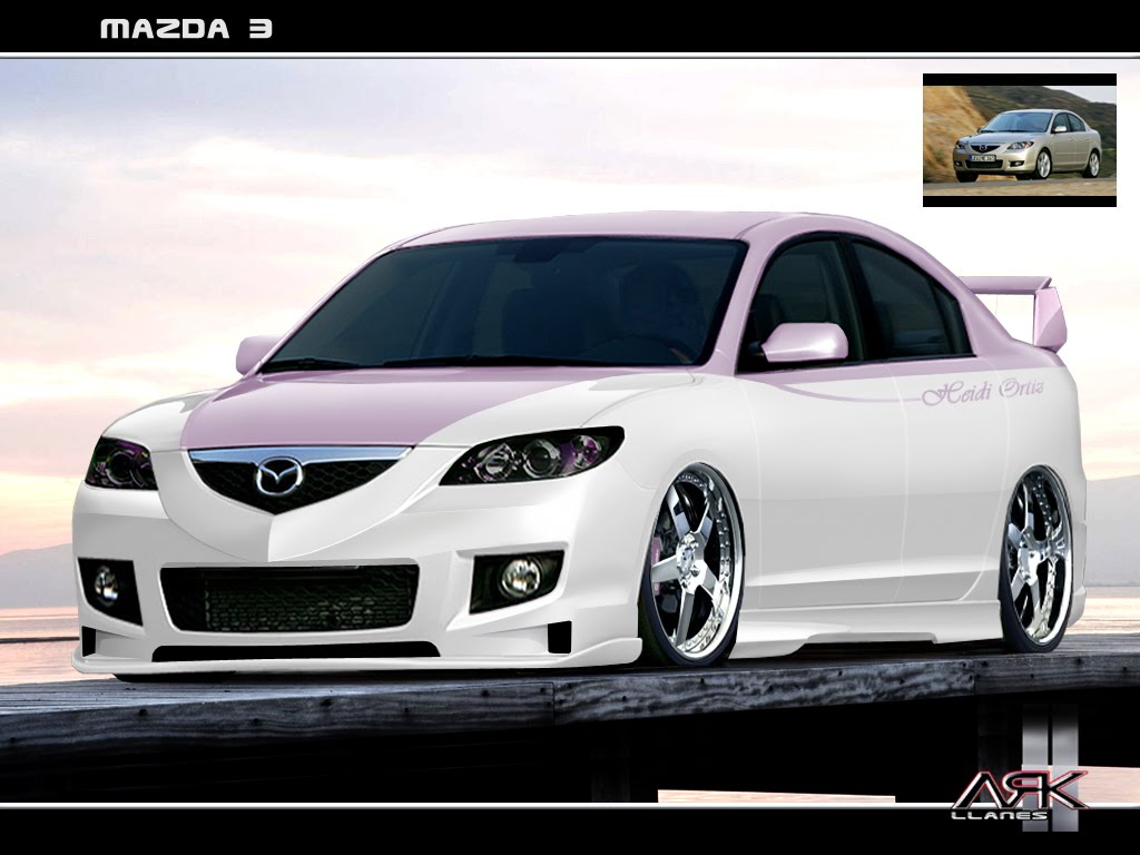 virtual tuning design by ark llanes mazda 3 2008. Black Bedroom Furniture Sets. Home Design Ideas