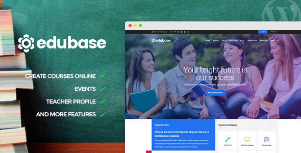 Free Download Edubase V1.2 Course, Learning, Event WordPress Theme