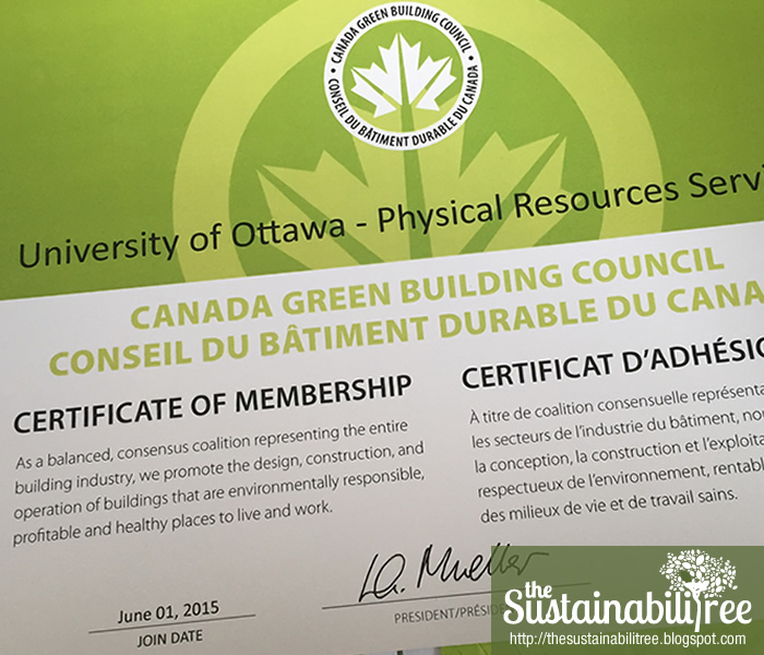 The University of Ottawa is now an official member of the CaGBC