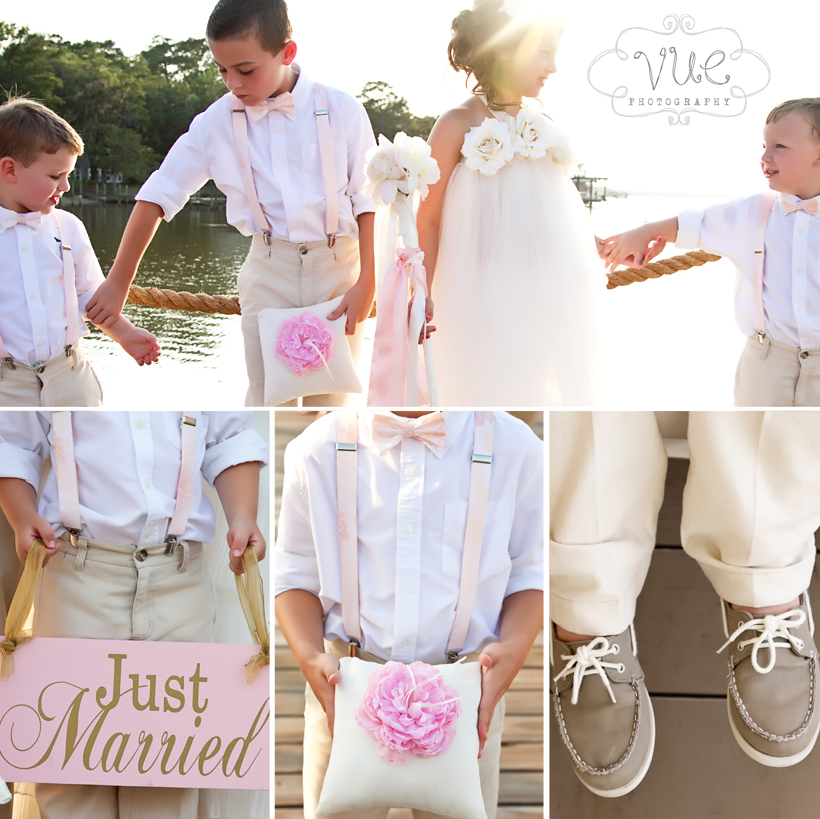 Tan and Pink Wedding