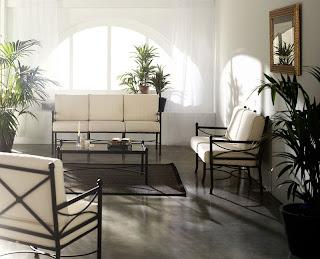 sillon sofa forja interior, tresillos de forja, juegos de sofas forja