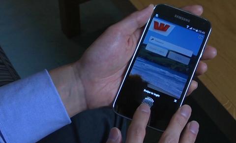 Lecture d'empreinte digitale dans l'app Westpac
