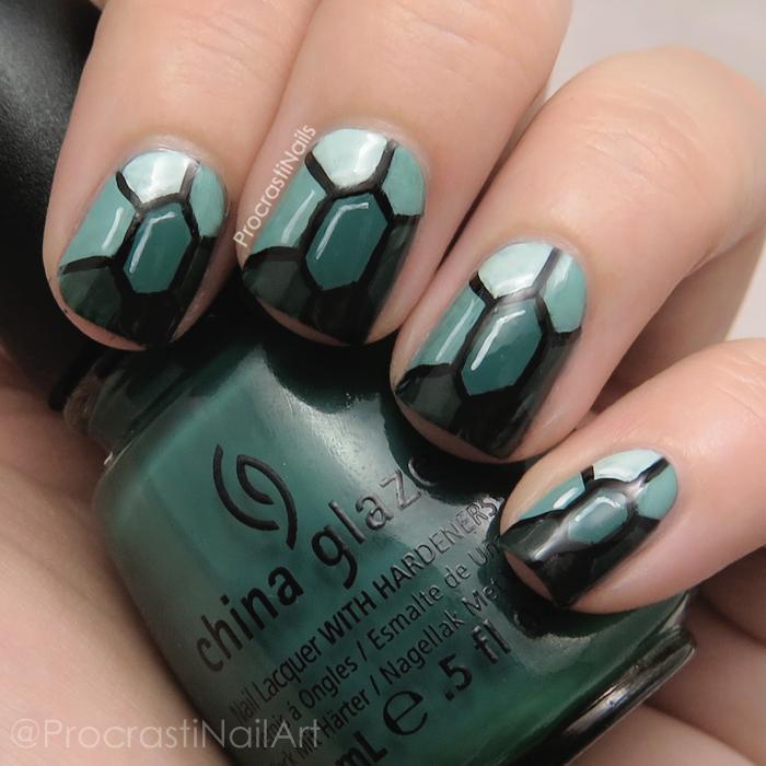 Emerald Jewel Tone Gemstone Twinsie Nail Art Procrastinails