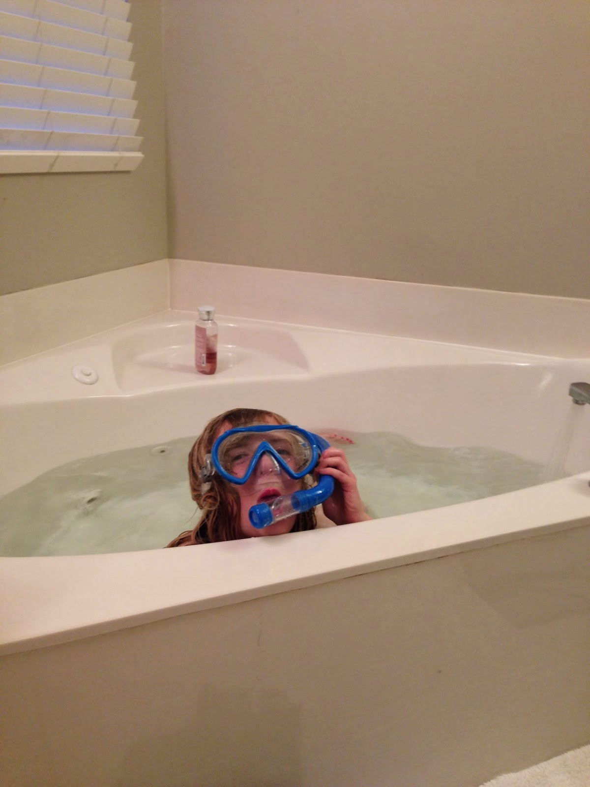 The Nevins: Snorkeling in the Tub!