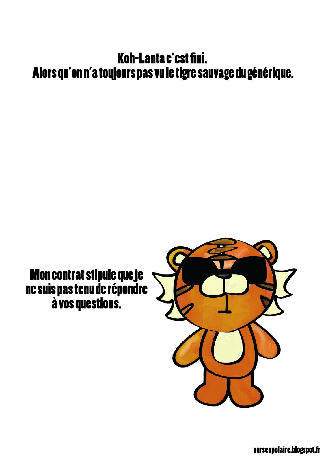 Koh Lanta c'est fini alors qu'on a toujours pas vu le tigre sauvage du générique