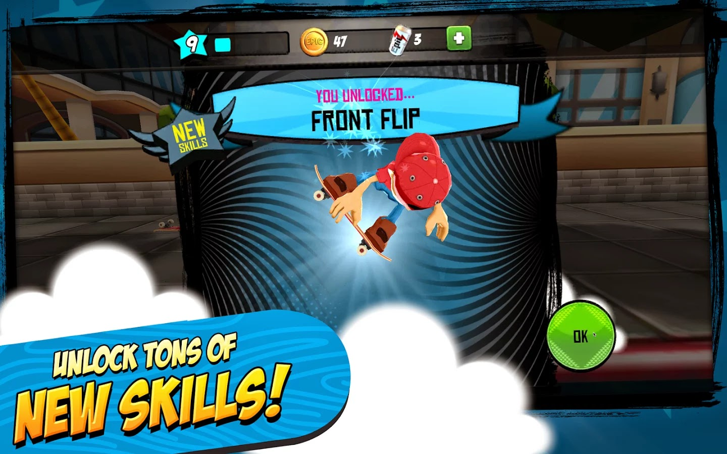 Epic Skater v1.3.1 Mod [Unlimited Coins]