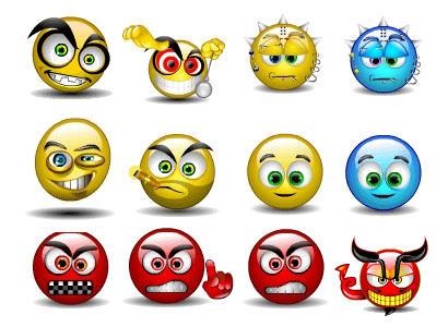 letras animadas y smiles animados para el messenger: