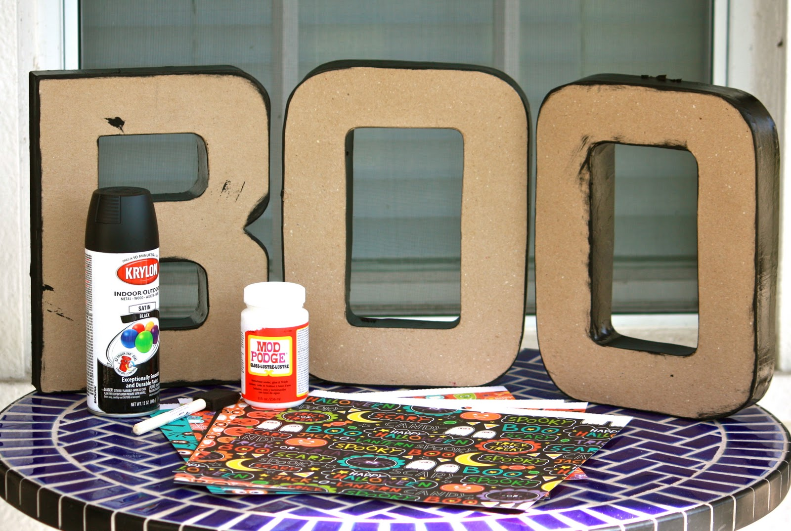paper mache letters purchased at joann for about 3 4 each depending on size