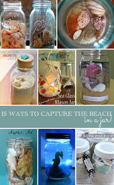 Capture beach memories in a jar with this collection of mason jar crafts!