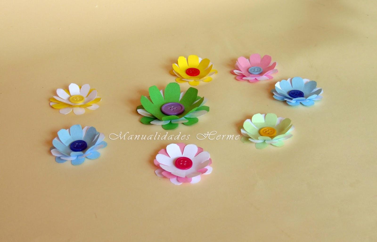 Manualidades herme como hacer flores de papel paso a paso - Decorar con papel ...