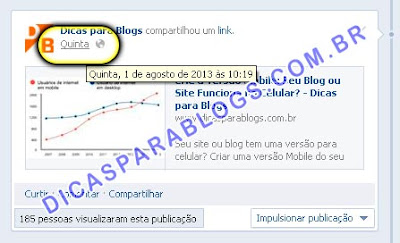 Link dos Posts do Facebook