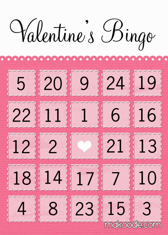 Modest image with printable valentine bingo card