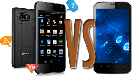 Micromax A90S Superfone Pixel Vs. Karbonn A18 dual SIM smart phones latest review and comparison