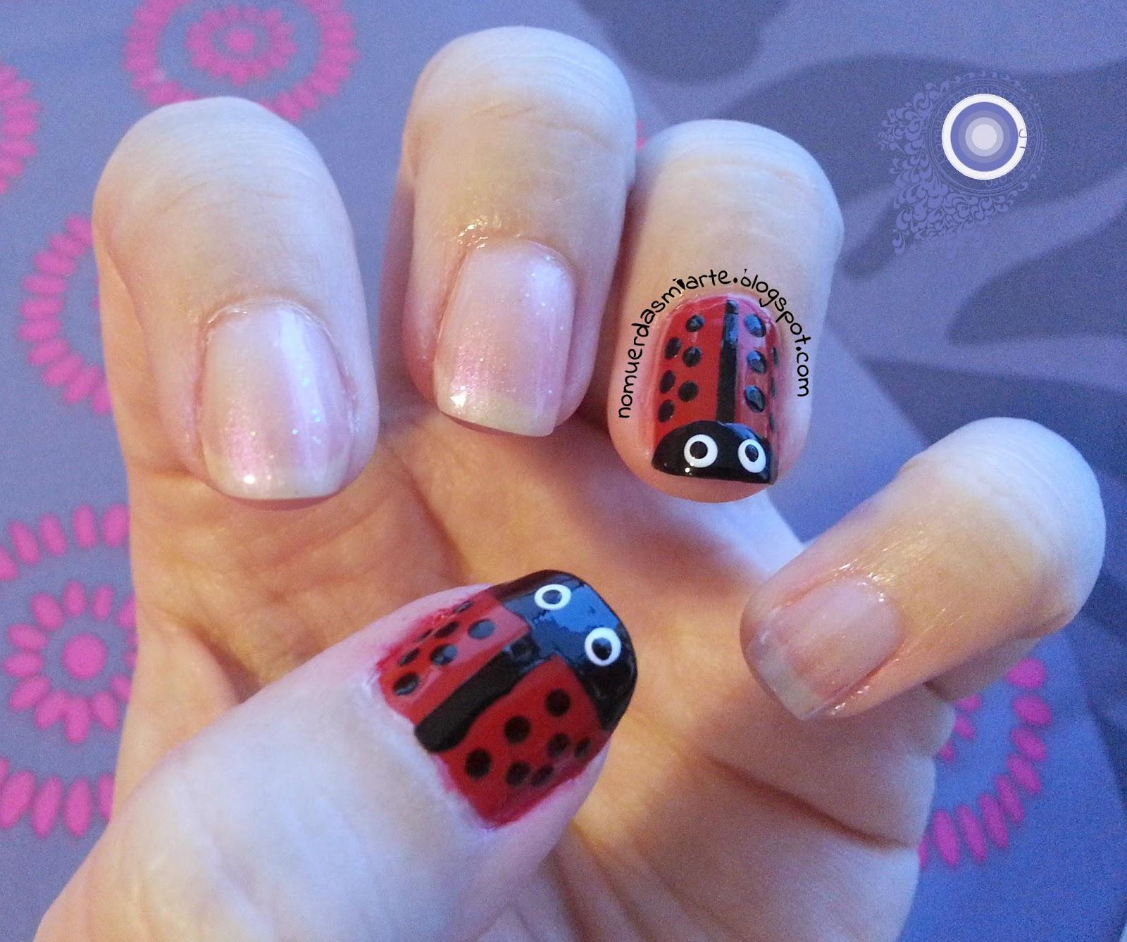 Ladybugs mani