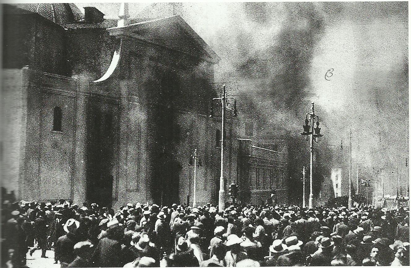 Jose antonio bru blog aza a y la quema de templos miguel for Biblioteca iglesia madrid