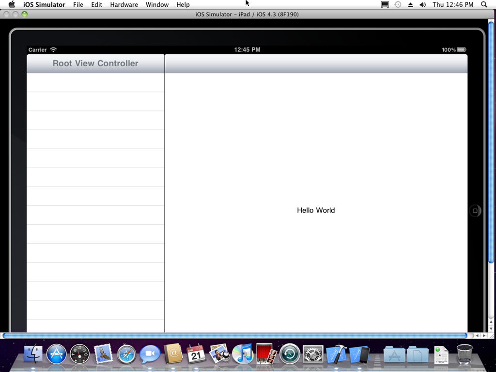 Hello World iPad App