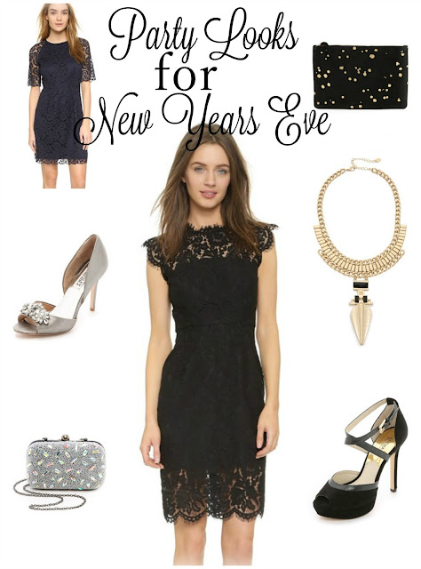 Party Looks for New Years Eve - Outfit Inspiration with Lace Dresses & Metallic Accessories | Funky Jungle - mindful fashion and quirky personal style blog