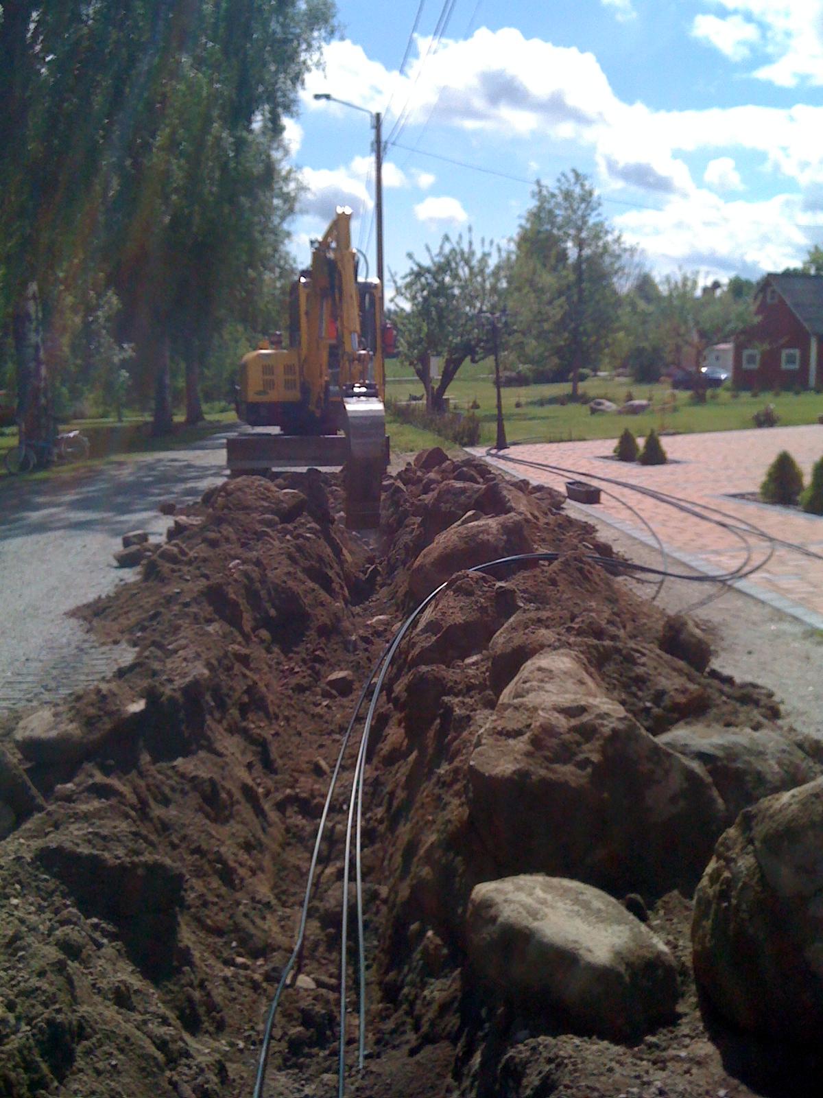 gräva ner fiber