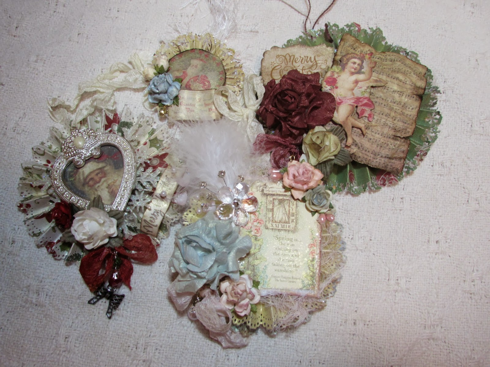 Thetara148 paper christmas ornaments and of course a - Shabby chic christmas decorations to make ...
