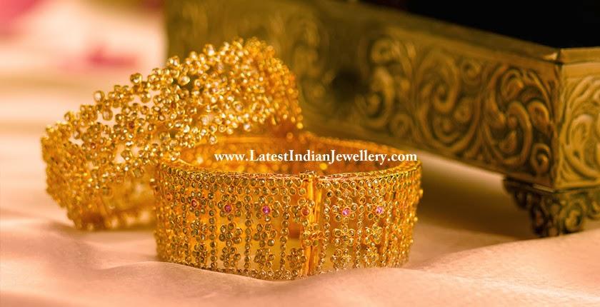 Stunning Uncut Diamond Bangles
