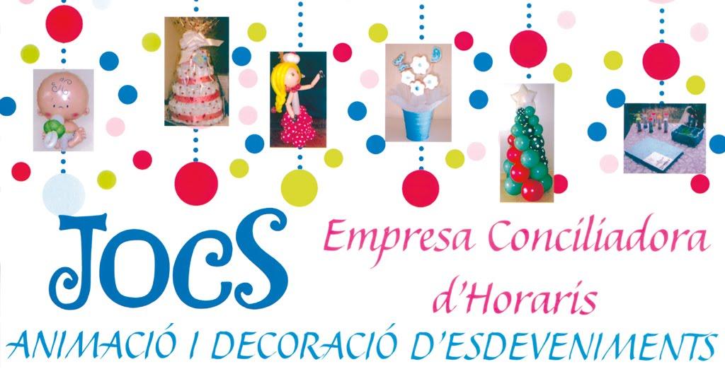 JOCS. Empresa Conciliadora d'Horaris. Animació i decoració d'esdeveniments.
