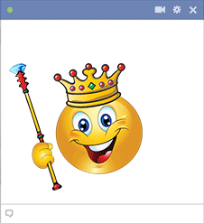 King emoticon for Facebook