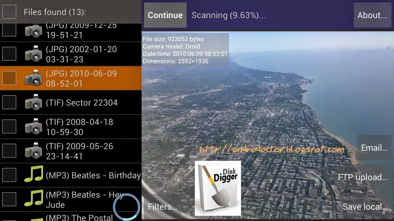 Cara mengembalikan data yang terhapus di Android - Drio AC, Dokter Android