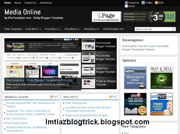 2.Media Online Blogger Template